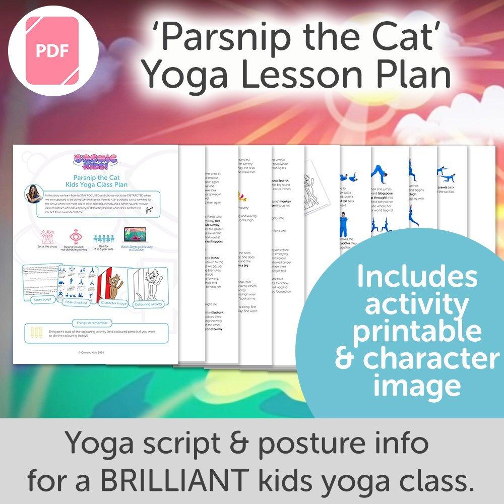 Parsnip The Cat Kids Yoga Class Plan New Style Cosmic Kids Yoga