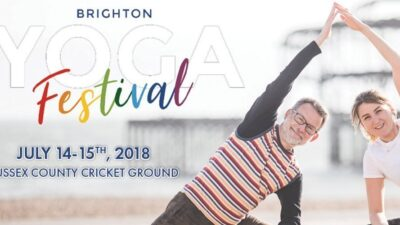 Jaime at The Brighton Yoga Festival