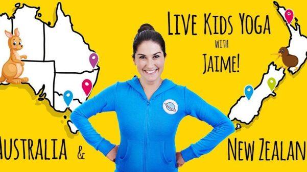 LIVE Kids Yoga with Jaime in Australia & New Zealand!