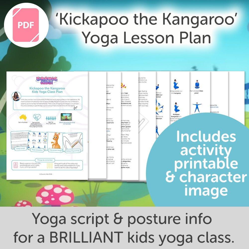 Kickapoo The Kangaroo Kids Yoga Class Plan